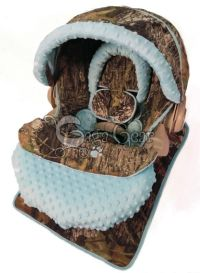 Baby boy camo car seat cover