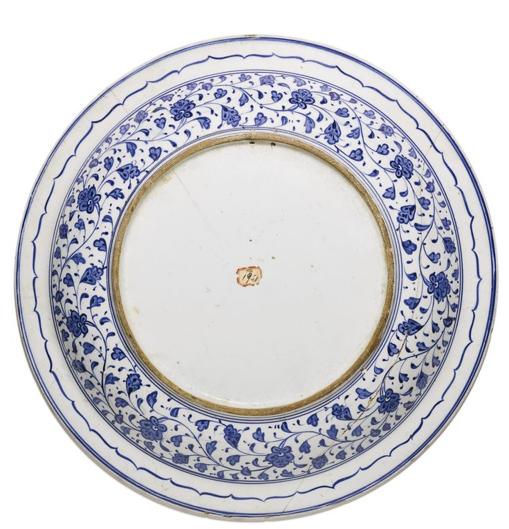 An exceptional Iznik blue and white pottery dish, Turkey, circa 1520 | Lot | Sotheby's