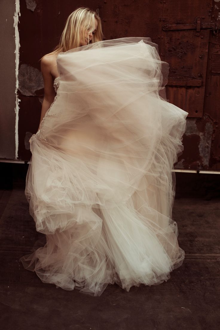 full of tulle