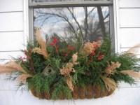 Winter window box | Ideas for my home | Pinterest
