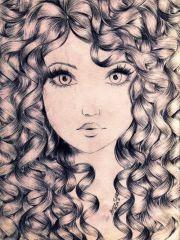 curly hair art beauty