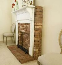 faux brick fireplace | Home ideas | Pinterest