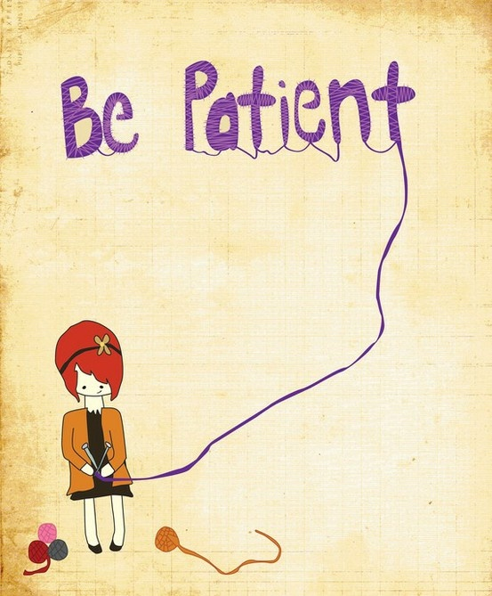 be patient - eventually you'll make something, or at least use up all the yarn
