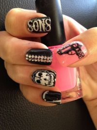 Sons of Anarchy nails! | Fellow Nail Techs | Pinterest