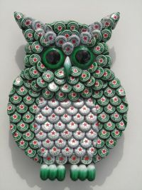 Bottle Cap Green Heineken Beer Bottlecap Metal Owl Wall ...