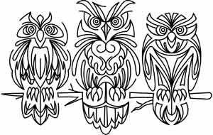 Retro Owls design (UTH3609) from UrbanThreads.com 20 May