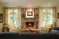 Window beside fireplace   Family Room Decorating   Pinterest