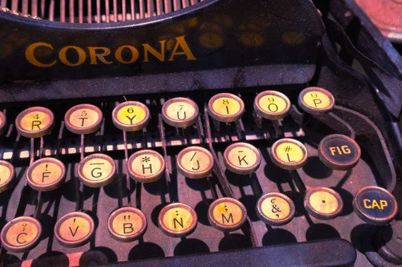 "Vintage Typewriter ""Writing Machine no. 1"" at Los Angeles Flea Market - 8x10"" Fine Art Matte Photography Print. $25.00, via Etsy."
