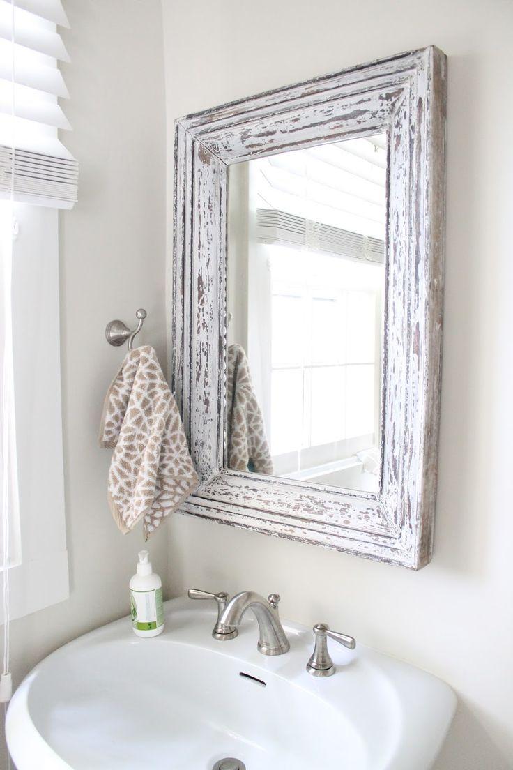 rustic bathroom mirror  Design Inspiration  Pinterest