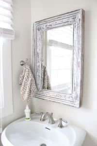 rustic bathroom mirror | Design Inspiration | Pinterest