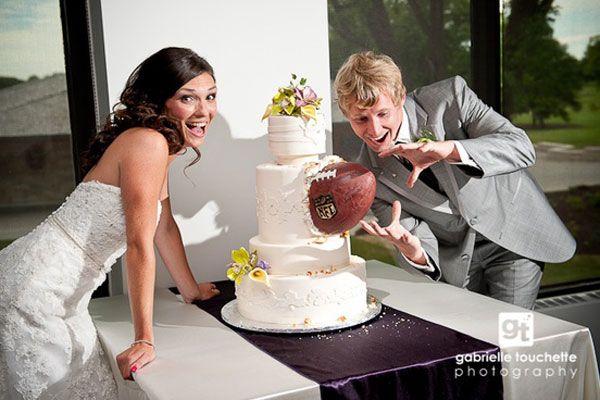 football themed wedding cake, weddings, wedding cake