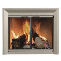 Drake Fireplace Glass Door - Nickel