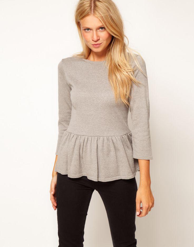 peplum sweater / asos