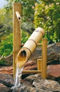 """Bamboo Large 20"""" Rocking Garden Water Fountain & Pump Kit"""