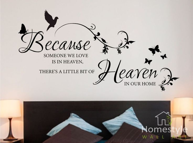 Download Because someone we love is in heaven wall stickers | art ...