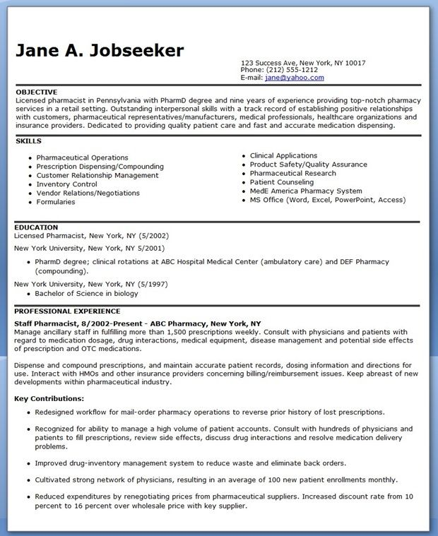 Sample Resume Maren M Pharmacists Des Moines Retail