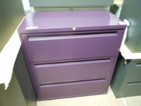 Stylish filing cabinet in purple!! Home-offfice ideas- by ...