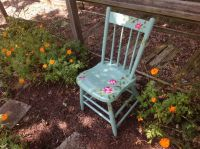 Painted Garden chair   Gardening   Pinterest