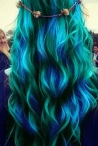 Blue water hair | Hair styles | Pinterest
