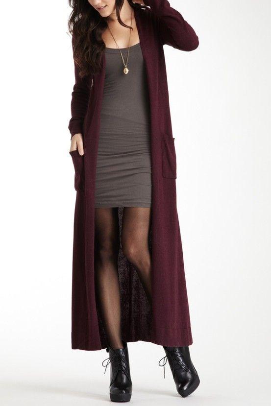 Floor length cardigan  Wardrobe Wants  Pinterest