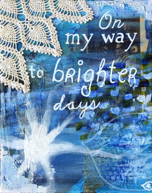 Mixed Media Painting Quote Painting Inspirational di treetalker