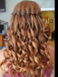 Waterfall braid with curls! | Aaaaaaa. Hair.HAIR.hair ...