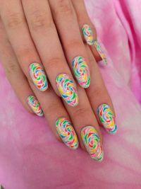 Swirl Nail Art | Nail Designs | Pinterest
