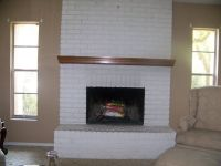 Before photo of fireplace reface | Your Home | Pinterest