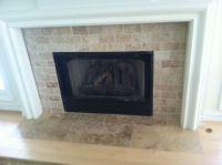 Travertine fireplace | My designs | Pinterest