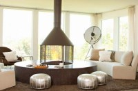 circular fireplace | Let there be fire... | Pinterest