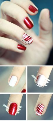 candy-cane nail-art angeleyes
