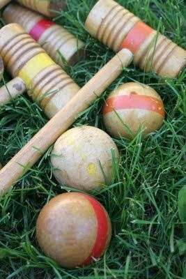 croquet...we                                                              played in our                                                            backyard