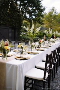 Outdoor wedding reception table settings | Table Settings ...