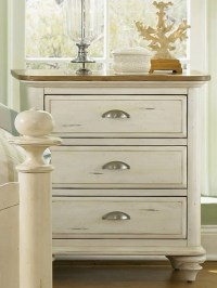 Distressed white washed nightstands | Bedroom Redo | Pinterest