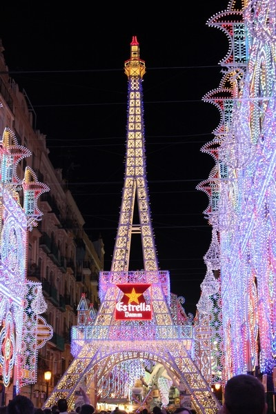 Not Paris, but Valencia - The Street of Lights during Las Fallas 2012 festival - more at: http://www.yougo.pl/relacja/16/ulica-swiatel-na-calle-de-sueca-w-walencji