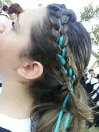 Braiding ribbon | [Style] Hair & Makeup | Pinterest