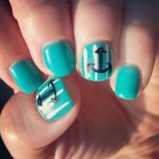 anchors summer nails teal