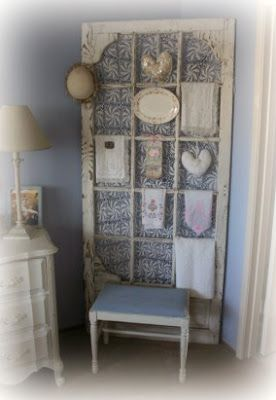 Old screen door w/ lace