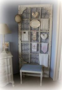 Old screen door w/ lace