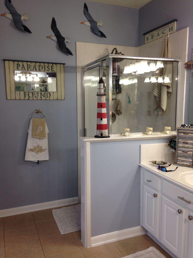 Beach theme bathroom  For the Home  Pinterest