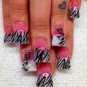 cheetah print acrylic nails