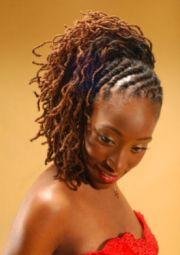 loc flat twist updo natural hair