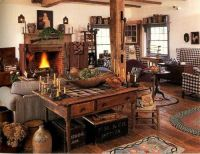 A Primitive Living Room | primitive living rooms | Pinterest