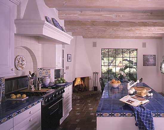 Image Result For Spanish Style Large White Stucco Fireplace My Next Kitchen | Spanish Style | Pinterest