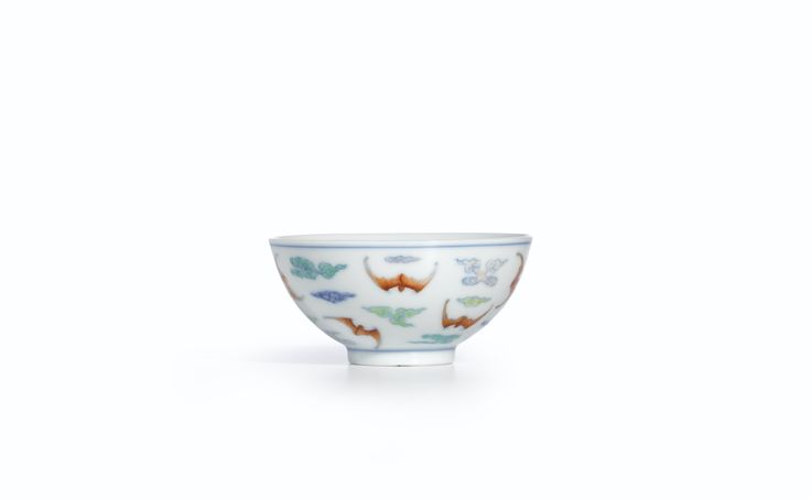 A FINE DOUCAI 'BAT AND CLOUD' CUP<br>MARK AND PERIOD OF YONGZHENG | Lot | Sotheby's
