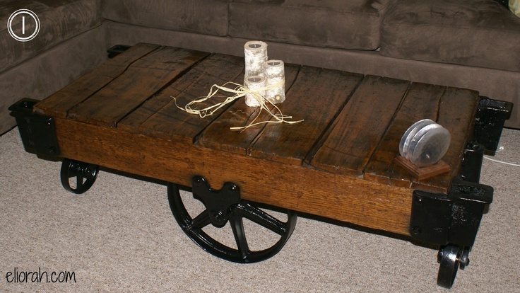 Industrial Railroad Cart Coffee Table