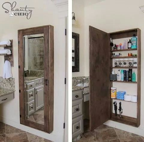Full length mirror medicine cabinet.