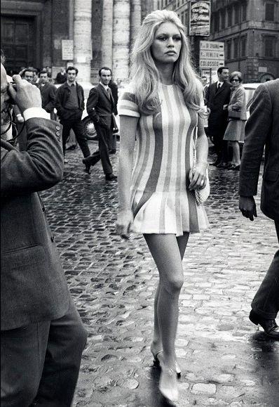 Brigitte Bardot, commanding the street in Rome.