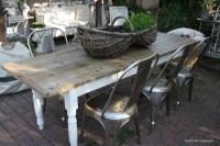 Farmhouse table on Patio | Outdoor Spaces | Pinterest