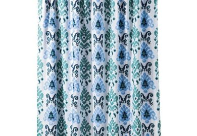 Gray Ikat Shower Curtain